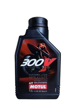 Моторное масло MOTUL 300V 4T Factory Line Road Racing, 10W-40, 1 л, 104118