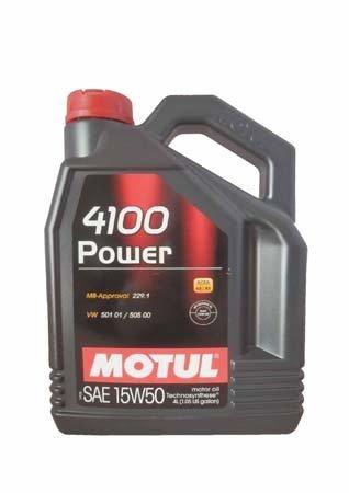 Моторное масло MOTUL 4100 POWER, 15W-50, 4л, 100271