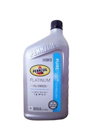 Моторное масло PENNZOIL Platinum Full Synthetic Motor Oil SAE 0W-20 (Pure Plus Technology) (0,946л)